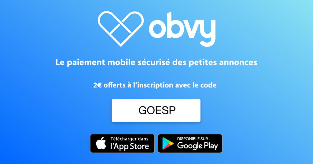 Code promo ESP sur l'application obvy