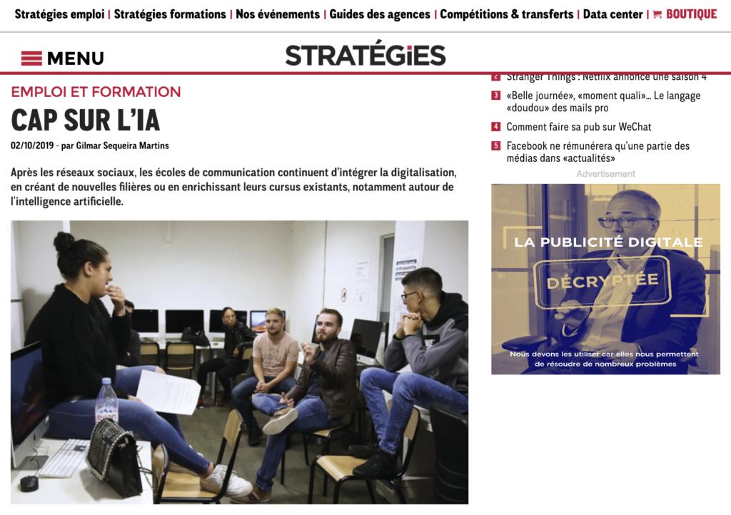 20191002_STRATEGIES.FR_Cap sur l'IA