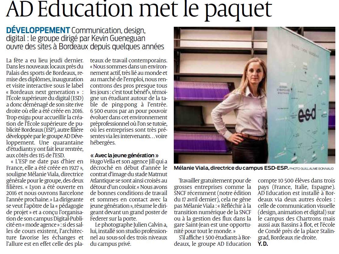 SUDOUEST - AD Education met le paquet