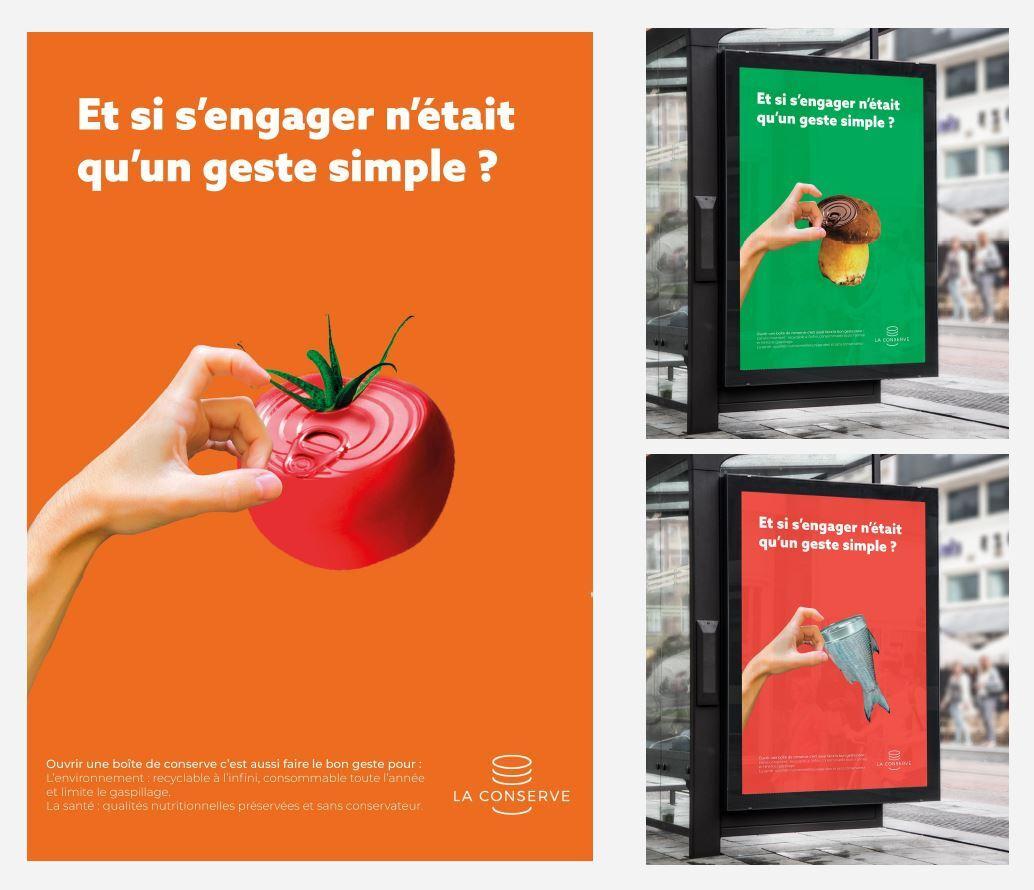 maquettes campagne affichage le geste simple realisée par les étudiants